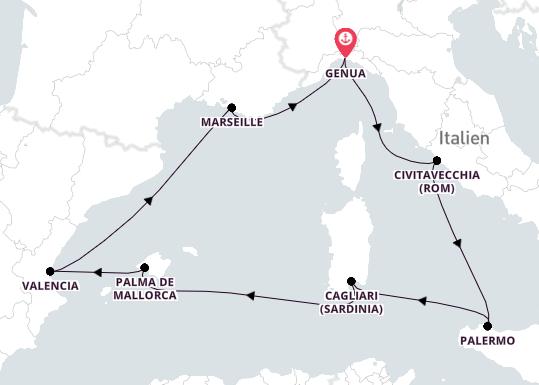8-tägige Kreuzfahrt bis Genua | MSC Divina | MSC Kreuzfahrten